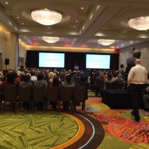 The packed house at our client's customer event