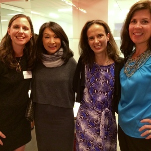 The RoseComm team with Connie Chung