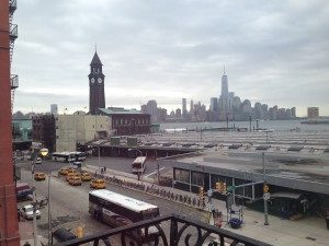 The Hoboken train station as seen from our office in 2014.